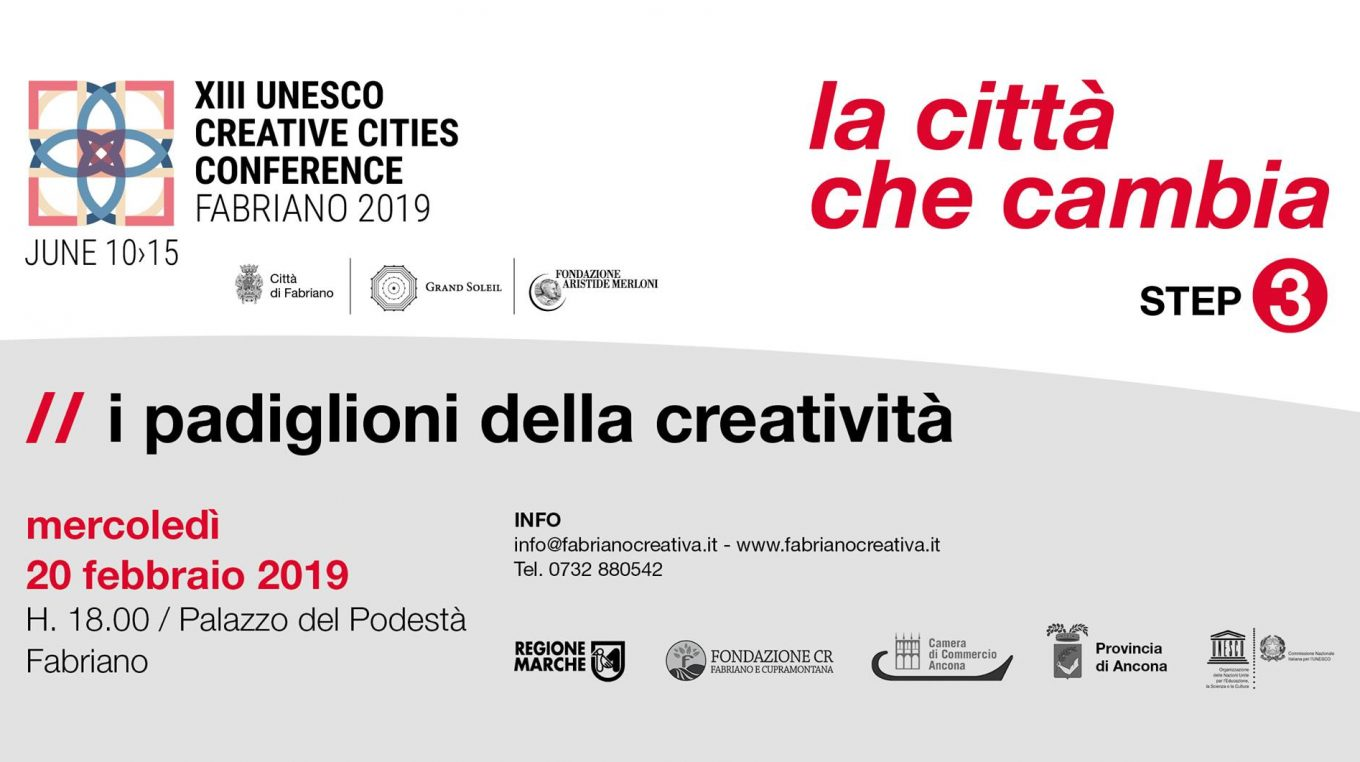 Step 3: Changing the City – Pavillions of Creativity (20/02/2019)