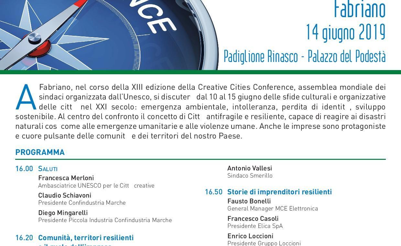"""""""Imprese, territori, città resilienti"""", 14 Giugno 2019, ore 16.00, Padiglione RINASCO"""